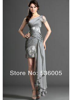 2014 New Short Tight Hot&Sexy Appliques One Shoulder Evening Elegant Vestidos de fiesta $109.00
