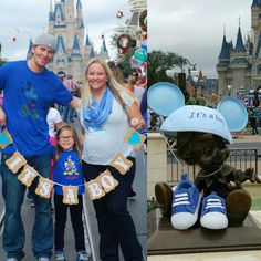 disney gender reveal - Google Search Disney Gender Reveal, Twin Gender Reveal, Gender Reveal Photos, Pregnancy Gender Reveal, Disney Maternity, Maternity Photos, Disney Pregnancy Announcement, One Month Baby, Minnie Mouse Baby Shower