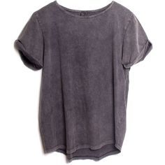 Atg Roll Up Tee ($50) ❤ liked on Polyvore featuring tops, t-shirts, shirts, t shirts, acid wash shirt, fancy shirts, dressy tops, fancy t shirts and purple tee