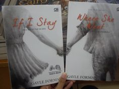 New covers for If I Stay and Where She Went by Gayle Forman (Indonesian Edition). I think I'm in love?
