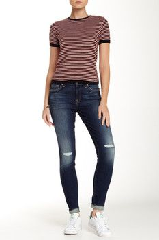 7 For All Mankind Gwenevere DIstressed Skinny Jean