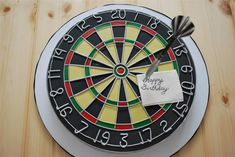 Dart Board Cake by Twisted Sugar, but for Yahkin's groom's cake! Not birthday Birthday Cakes For Men, New Birthday Cake, Birthday Presents For Mom, Cakes For Boys, Birthday Ideas, Dartboard Cake, Dartboard Birthday Cake, Cupcakes, Cupcake Cakes