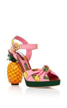 Pineapple Sandals by DOLCE & GABBANA Now Available on Moda Operandi