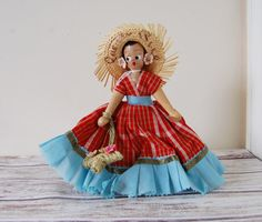 Vintage Wooden Polish Doll by SeeDollyRun on Etsy