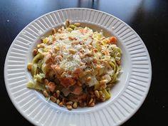 Lobke's Kitchen: Pasta met zalm en prei