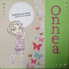 Birthday card for woman. Stamp: KennyK. / Syntymäpäiväkortti naiselle.