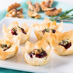 Welch's Phyllo Cups with Goat's Cheese and Raspberry Spread Recipe