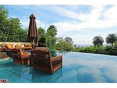 The outdoor area is the best part of this house. 9140 St Ives Dr  Los Angeles, CA90069