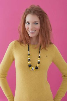 United Colours of Benetton wool jumper and @Phase Eight beaded necklace