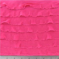 KNT- Hot Pink Tiered Ruffle Knit Fabric. Perfect for that romper!