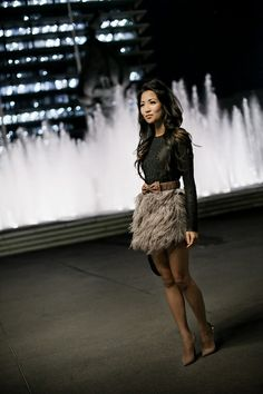 c09d4a8599 Feather skirt  long sleeves one day i will dare to wear a short skirt agian