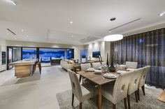 Living & Kitchen at the Brindabella by Webb & Brown-Neaves
