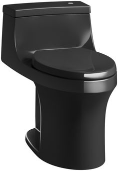 San Souci Comfort Height 1 Piece Compact Elongated 1.28 GPF Touchless Toilet with Aquapiston Flushing Technology