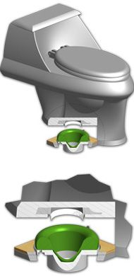 Saw this in Family Handyman magazine (May 2012, pg 12)  Seeing as how we'll have to remove the toilets when we install tile in the baths, this sani seal looks like a great product!