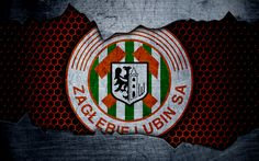 Download wallpapers Zaglebie, 4k, logo, Ekstraklasa, soccer, football club, Poland, grunge, Zaglebie Lubin, metal texture, Zaglebie FC