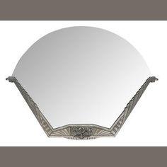 An Art Deco silvered metal mirror circa 1925