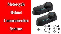 FreedConn 2 pcs Motorcycle Helmet Communication Systems Enduro Motorcycle, Motorcycle Helmets, Hifi Speakers, Best Amazon Products, Communication System, Gps Navigation, Listening To Music, Youtube, Motorcycle Helmet