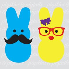 Mr. and Mrs. Peep Shirt Design - Download for Cricut or Silhouette Spring T Shirts, Easter Peeps, Diy Crafts For Kids, Diy Craft Projects, Kids Church Games, Kids Party Themes, Easter Parade, Vinyl Crafts, Vinyl Shirts