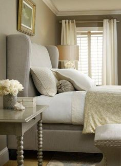Wingback bed….