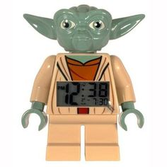 LEGO Kids' 9003080 Star Wars Yoda Minifigure Clock. Want it? Own it? Add it to your profile on unioncy.com #gadgets #electronics #tech #clocks