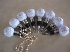 Hole in One Golf Ball Wine Stopper Wedding Favors by DNWoodCrafters on Etsy