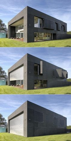 Burglarproof/zombie proof modern home | modern home | modernism | home | house | architecture | design | style #homearchitecture
