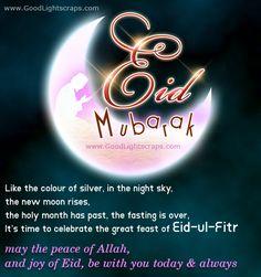 Eid Mubarak cards, scraps, images, wishes