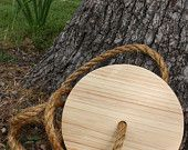 """Round Tree Swing - """"Keeping it simple"""" did this as a kid! Gracie and I had a blast."""