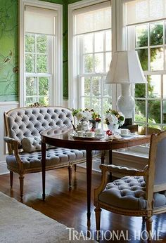LOVE the settees!