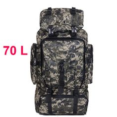6b4997943ce6 70L Men Camping Waterproof Travel Military Army Bags Outdoor Sport Molle  Tactical Rucksacks Camouflage Hiking Backpacks