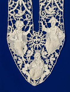 Ornament for garment 17th century linen (needle lace)