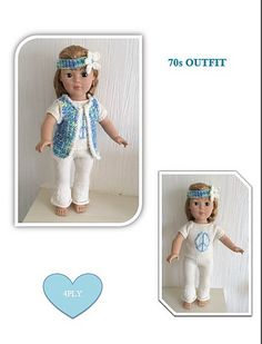 """Ravelry: 70s Outfit for 18"""" Dolls pattern by UNA HENDRY"""