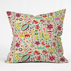 Frolic Throw Pillow- color ideas for her bedroom mirror