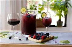 A delicious Bacca (Berry) Sangria Recipe found on New England Fine Living
