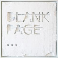 Rero, Untitled (BLANK PAGE...)