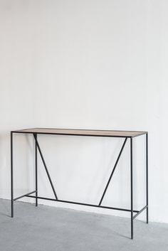Croft House Console Table-Arden Oak + Industrial Steel