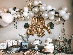 Balloon Arch Diy, Baby Balloon, Baby Shower Balloons, Balloon Garland, Balloon Decorations, Birthday Decorations, Balloon Ideas, Baby Shower Backdrop, Girl Baby Shower Decorations