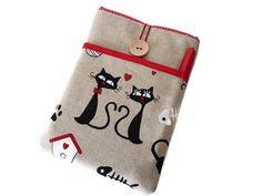 e-Reader Taschen - ipad mini tasche / ipad mini 4 Hülle Katz - ein Designerstück von driworks bei DaWanda