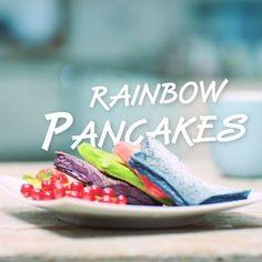 Rainbow pancakes all day, every day! Zutaten:  150 g Mehl, 150 ml Milch, 1 Teelöffel Zucker, 1 Prise Salz, 2 Eier, 1 Teelöffel Backpulver, Lebensmittelfarbe, 3 Teelöffel Butter für die Pfanne. Schaut euch in unserer Video-Anleitung an wie leicht die Rainbow Pancakes mit einem Teig-Shaker und Spiegeleiformen zubereitet werden können. Guten Appetit!