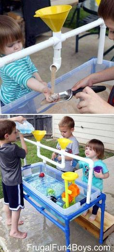 Making some interesting projects for kiddos by yourself is a great idea to prove you are an omnipotent and successful parent. Kids are all fond of spending time outdoor, so you can do something makes their outdoor time more fun. Easy PVC pipe projects are Summer Fun For Kids, Diy For Kids, Crafts For Kids, Summer Crafts, Baby Crafts, Family Crafts, Kids Fun, Pvc Pipe Projects, Projects For Kids