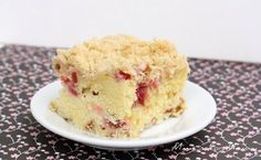 Rhubarb Buttermilk Cake from mmmisformommy.com