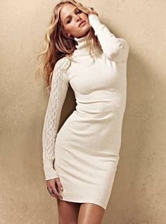 So cute for fall! You can always add leggings and boots if it gets too cold! Victoria's Secret - Turtleneck Sweaterdress