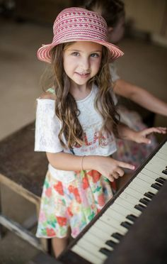 Island girl, Summer ready.   Fun Hat #Children #clothes. Styling ideas for your girls.