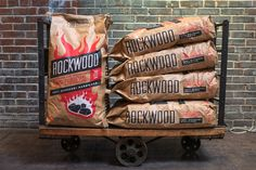 Rockwood is all-natural lump charcoal made entirely from Missouri hardwood, unlike the charcoal briquettes or match-light charcoal typically seen in stores. Bbq Brands, Outdoor Barbeque, Barbecue, Lump Charcoal, Consumer Marketing, Grill Master, Backyard Bbq, Tasting Room, Brand Identity Design