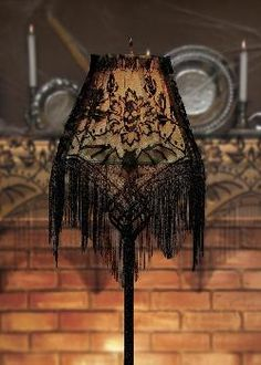 Black lace lampshade topper