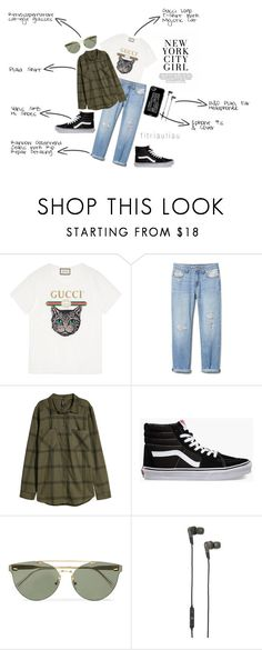 Boyish Style Can Never Go Wrong by fitriauliau on Polyvore featuring Gucci, Vans, B&O Play, RetroSuperFuture and Casetify