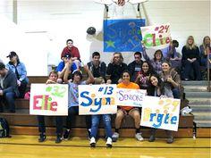 Upper School students cheering on the volleyball team at Senior Night!