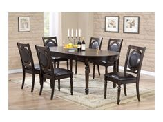 367131e38a Crown Mark 5PC Lyla Collection 2331 Dining Set   Savvy Discount Furniture  Round Glass Table Top