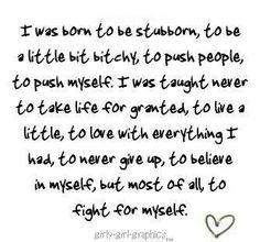 I am who I am....