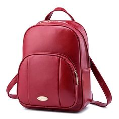 Famous Brand Women Backpacks Solid School Bags for Girls leather high quality Teenagers Female Students Shoulder mochilas mujer